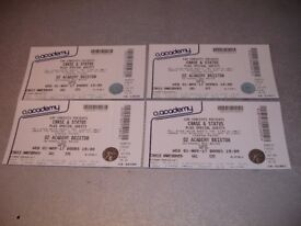 CHASE & STATUS **X 4 TICKETS** - 1ST NOVEMBER BRIXTON ACADEMY **£30 EACH**