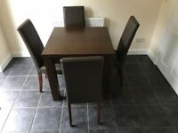 Dining table and chairs (from next)
