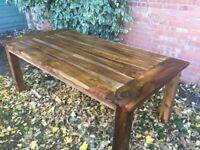 'Reclaimed' Indian Hardwood Dining Table 200cm x 100cm