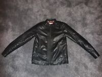 Black imitation leather jacket