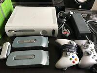 Xbox 360 - 250GB Original Matt White w/games & extras
