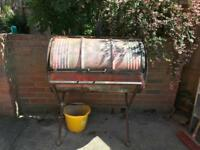 Oil drum barbecue