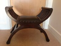 Leather seat half moon chairs Set of two