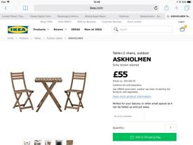 IKEA Askholmen Table and Chairs set