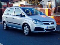 VAUXHALL ZAFIRA 1.6 LIFE 2005 LOW MILEAGE CAMBELT CHANGED 1YRS MOT 3 MONTHS WARRANTY CALL NOW