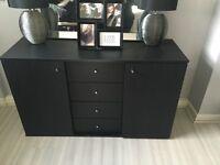 Argos black sideboard