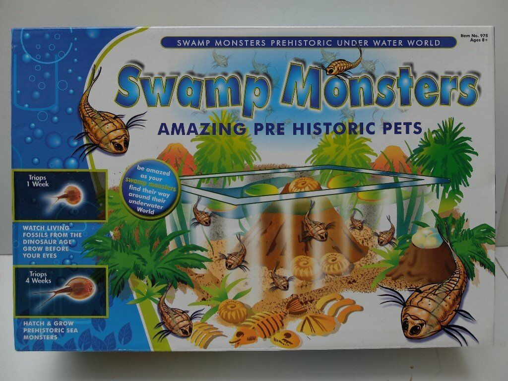 SWAMP MONSTERS AQUARIUM PREHISTORIC LIVING FOSSILS BRAND NEW SEALED BOX IDEAL CHRISTMAS GIFT TOYS