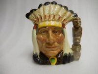 North American Indian Toby jug