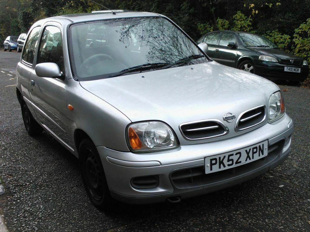 nissan micra 1 0 tempest 2002 52 reg met silver 3 door. Black Bedroom Furniture Sets. Home Design Ideas