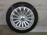 ALLOYS X 4 OF 19 INCH GENUINE DISCOVERY/RANGEROVER FULLY POWDERCOATED IN A STUNNING DUTCHSILVER NICE