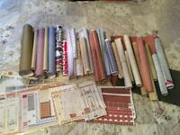 Job lot of dolls house wallpapers/flooring