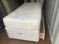 Single Divan Sprung Bed Base 2 Draws and Mattress