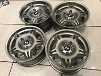 Bmw E36 M3 Evo Alloy Wheels Genuine Staggered Set BBS Z3 E46 WV Vauxhall 5x120