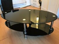 Glass Coffee Table Black £20