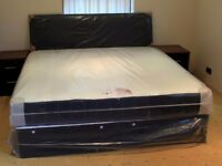Double bed complete with memory foam on spring mattress all so in king size and superkink ,single.