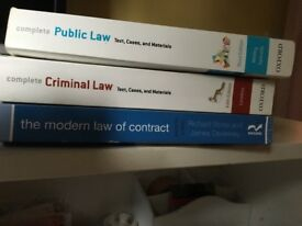 First year law text books