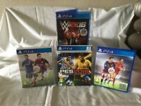 Set of 4 PS4 games