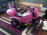 Battery powered girls motor bike