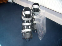 Roller Boots Size 6.5 Black with light up and non light up Wheels