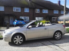 Convertible car with full cream leather seats