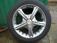 "15"" MULTI FIT ALLOY WHEELS WITH MINT TYRES"