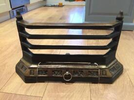 Victorian cast iron grate front
