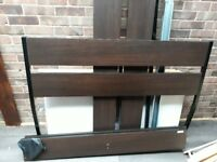 Ikea Chocolate Brown Double Bed Frame only