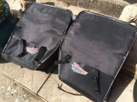 Two Held, Hightech, motor cycle panniers in good condition