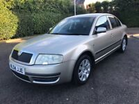 AUTO 2004 SKODA SUPERB 1.9 tdi COMFORT 130bhp FULL HISTORY automatic GREAT RUNNER octavia