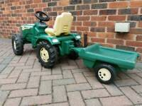 Kids peddle tractor