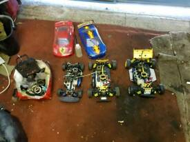 3x petrol rc cars