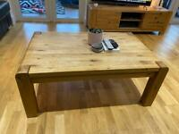 Solid oak Barker and Stonehouse coffee table