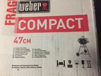Brand new - Weber BBQ 47 cm + cover. Never used!