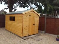8FTx10FT HEAVY DUTY STANDARD APEX GARDEN STORAGE TIMBER T&G SHED.