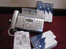 Free Sharp UX 510 fax machine with fax print cartridges