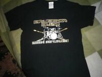 Boys Drum T Shirt Age 10