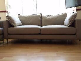 Leather Grey Two THREE Seaters Sofas Living room furniture