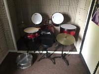 Full size tiger drum kit