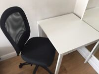 Table ideal for study and adjustable chair