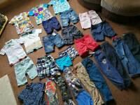 Bundle of boys age 6 - 7 year clothing - incl new denim shorts, trousers, swim shorts ,