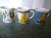 3 Pudsey Bear - BBC Children in Need Mugs - Unused