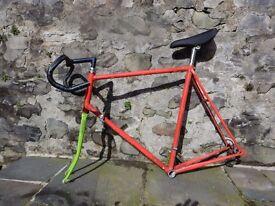 Vintage Dawes Reynolds Steel Road Racing Bike Frame - X Large
