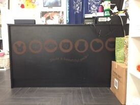 Black Wood Reception Desk, Counter for Retail Store