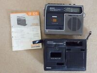 Vintage Sony CF-320 AM-FM Radio Cassette Player Recorder/with Service Manual