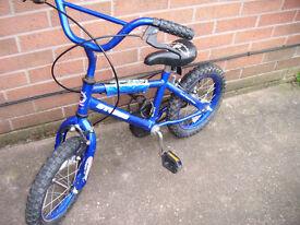 "Storm Kids Bicycle 14"" Wheels Boys Bike Age 4 - 6yr"