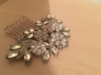 Stunning pearl and crystal Bridal hair piece