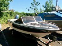 Speed boat Yamaha engine with trailer
