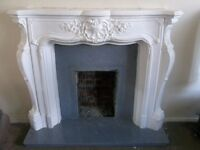 Stunning Fireplace with marble hearth and plinth