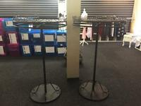 Clothing shop rails