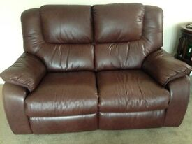 Reclining 3 + 2 Leather Sofa's